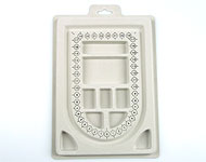 Bead bord, 1 row with compartment for beads ± 23x16cm