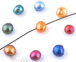www.beadyourfashion.com - Mix genuine freshwater pearls irregular flat ± 5-6mm (hole ± 1mm)