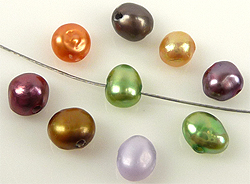 www.beadyourfashion.com - Mix genuine freshwater pearls irregular flat ± 4-5mm (hole ± 1mm)