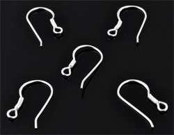 www.beadyourfashion.com - 925 Silver ear wire fish hook (sterling silver) with eye ± 16,5x10mm (eye ± 1,5mm)