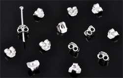 www.beadyourfashion.com - 925 Silver ear nut/earring back (sterling silver) ± 4x2mm