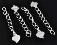 925 Silver extension chain (sterling silver) ± 32x5mm