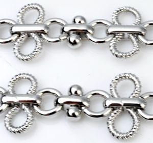 www.beadyourfashion.com - Metal chain decorated ± 50cm (links ± 27x17mm)