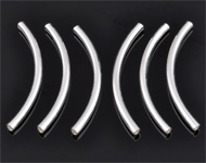925 Silver tube bent (sterling silver) ± 30mm (± 2mm thick) (hole ± 1mm)