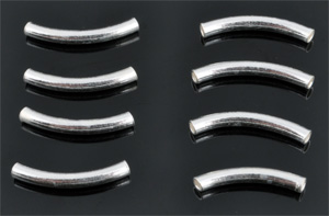 www.beadyourfashion.com - 925 Silver tube bent (sterling silver) ± 15mm (± 2mm thick) (hole ± 1mm)