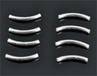925 Silver tube bent (sterling silver) ± 15mm (± 2mm thick) (hole ± 1mm)