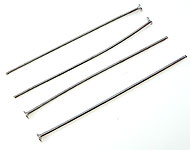 Metal head pins ± 40mm and ± 1mm thick (± 110 pcs.)
