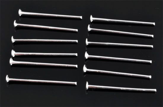 www.beadyourfashion.com - Metal head pins ± 30mm and ± 1mm thick (± 75 pcs.)