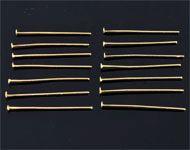 Bastones cabeza de alfiler de metal ± 30mm y ± 1mm grueso (± 145 pzs.)