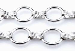 www.beadyourfashion.nl - Metalen ketting met ronde schakels ± 1 meter (schakel ± 13mm)
