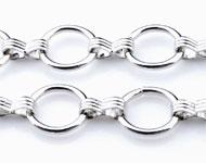Metalen ketting met ronde schakels ± 1 meter (schakel ± 13mm)