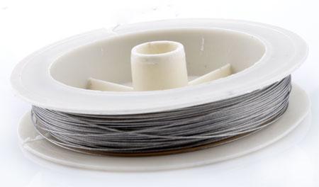 www.beadyourfashion.com - Steel wire ± 0,38mm (roll ± 60 metre)