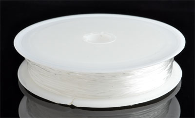 www.beadyourfashion.com - Elastic nylon wire round ± 1mm (roll ± 5 metre)