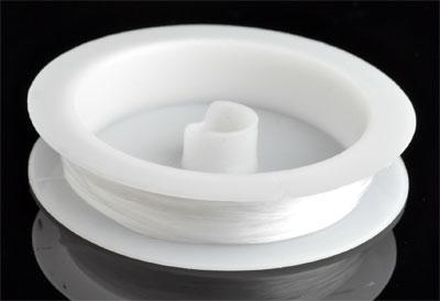 www.beadyourfashion.com - Thin, extra elastic nylon wire ± 1mm (roll ± 6 metre)