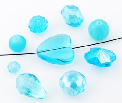 www.beadyourfashion.com - Mix glass beads ± 8-28mm (± 10-15 pcs.) (hole ± 1-2mm)