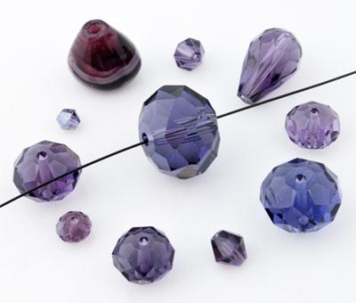 www.beadyourfashion.com - Mix glass beads ± 6-28mm (± 10-25 pcs.) (hole ± 1-2mm)
