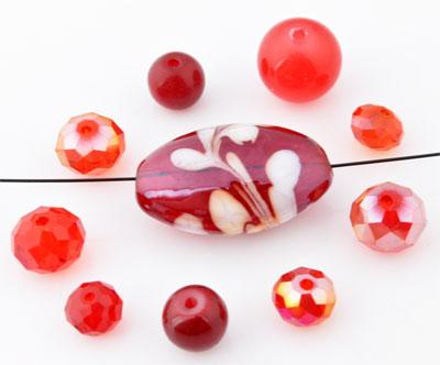 www.beadyourfashion.com - Mix glass beads ± 8-39mm (± 10-20 pcs.) (hole ± 1-2mm)