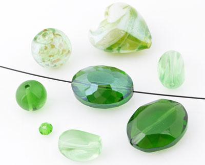 www.beadyourfashion.com - Mix glass beads ± 10-30mm (± 8-20 pcs.) (hole ± 1-2mm)