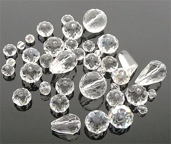 www.beadyourfashion.com - Mix glass beads ± 8-30mm (± 10-15 pcs.) (hole ± 1-2mm)