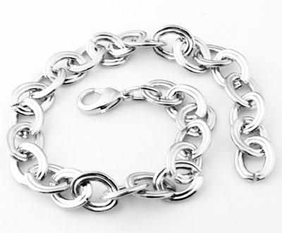 www.beadyourfashion.com - Metal bracelets with decorated links ± 23cm (link ± 12x10mm)