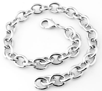 www.beadyourfashion.nl - Metalen armbanden ± 25cm (schakel ± 10x8mm)