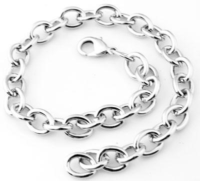 www.beadyourfashion.nl - Metalen armbanden ± 25cm (schakel ± 12x10mm)