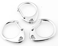 Porte-clefs/fermoires de métal ± 33x27mm (trou ± 2,5x4mm)