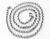 Stainless steel necklace jasseron ± 55cm (link ± 4mm and clasp ± 12x7mm)