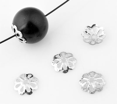 www.beadyourfashion.com - Metal caps flower ± 6mm, ± 1mm thick (± 550 pcs.)