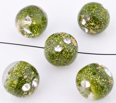 www.beadyourfashion.fr - Perles de synthétique circulaire avec éclat et strass ± 16mm (trou ± 2mm)