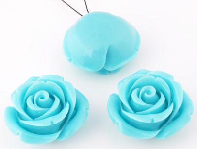 www.beadyourfashion.es - Colgante de piedras naturales coral (20%) con material sintético (80%), rosa ± 24x14mm