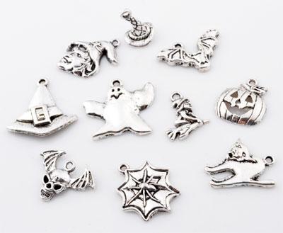 www.beadyourfashion.com - Mix metal pendants/charms Halloween ± 15x11mm - 24x23mm