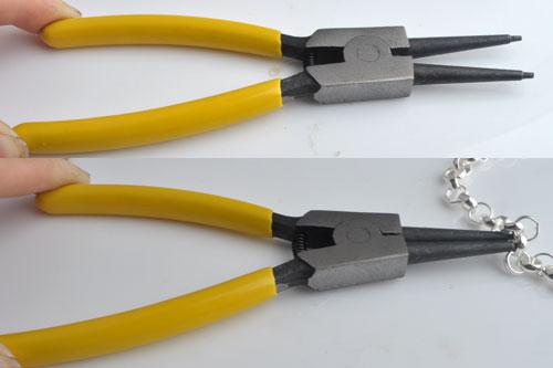 www.beadyourfashion.com - Dividing pliers to open jasseron