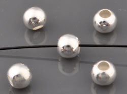 www.beadyourfashion.com - 925 Silver beads (sterling silver) roundel ± 4x4,5mm (hole ± 2mm)