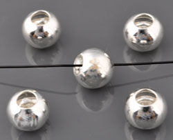 www.beadyourfashion.com - 925 Silver beads (sterling silver) roundel ± 6x8mm (hole ± 4mm)