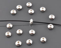 www.beadyourfashion.com - 925 Silver beads (sterling silver) disc ± 2x4,5mm (hole ± 1mm)