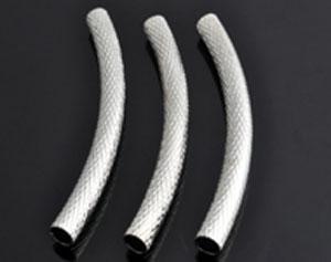 www.beadyourfashion.nl - Metalen buisje gebogen, bewerkt ± 45mm, ± 4mm dik