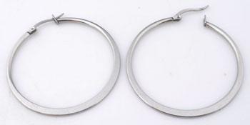 www.beadyourfashion.com - Stainless steel earrings flat ± 36x34mm