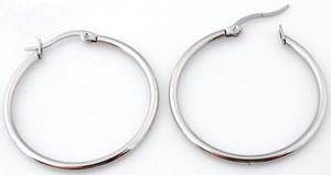 www.beadyourfashion.com - Stainless steel earrings round ± 35x34mm