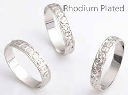 www.beadyourfashion.com - 925 Silver fingerring (sterling silver) rhodium plated decorated ± 20mm (inner size ± 18,5mm)