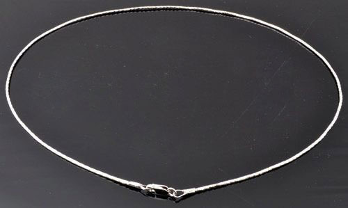 www.beadyourfashion.com - 925 Silver necklace (sterling silver) ± 41cm (± 1mm thick and clasp ± 8x4mm)