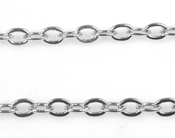 www.beadyourfashion.com - Metal chain with oval links ± 1 meter (link ± 2,5x2mm)