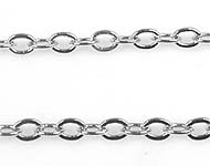 Metal chain with oval links ± 1 meter (link ± 2,5x2mm)
