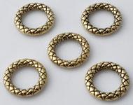 Anneaux de métal, circulaires et décorés ± 13mm, ± 2mm gros