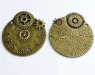 Metall Anhänger Uhr bearbeitet,