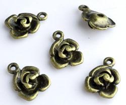 www.beadyourfashion.com - Metal pendants/charms rose ± 17x12mm