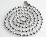 Roestvrij stalen halsketting met ronde schakels ± 60cm (schakel ± 4mm)