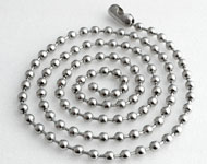 Collier d'acier inoxydable avec maillons circulaires ± 60cm (maillon ± 4mm)