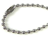 Roestvrij stalen halsketting met ronde schakels ± 60cm (schakel ± 2,5mm)