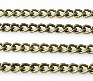 www.beadyourfashion.com - Metal chain with oval links ± 1 meter (link ± 6x4,5mm)